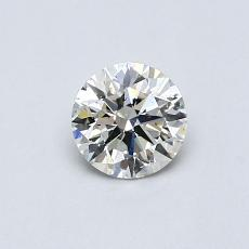 0,50-Carat Round Diamond Ideal K SI2