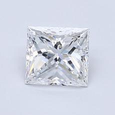 1,00 Carat Princesse Diamond Très bonne E VS1