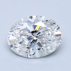 1.51-Carat Oval Diamond Very Good D VS1