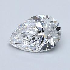 1.00-Carat Pear Diamond Very Good D VVS2