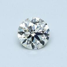 0.51-Carat Round Diamond Ideal K VVS2