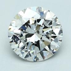 2.01-Carat Round Diamond Ideal G SI2