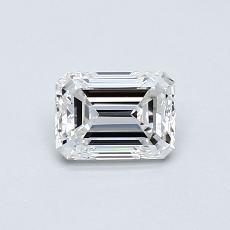 0.50-Carat Emerald Diamond Very Good E VVS1