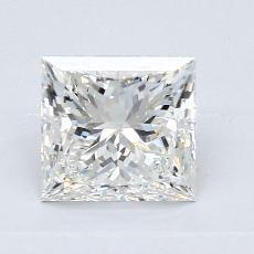 1.52-Carat Princess Diamond Very Good H SI1