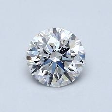 0.70-Carat Round Diamond Ideal E VS2