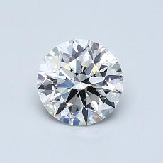 0.70-Carat Round Diamond Ideal F VS2