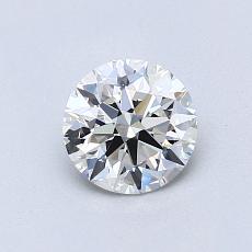 0,76 Carat Rond Diamond Idéale F VVS2