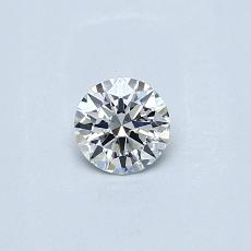 0.23 Carat 圓形 Diamond 理想 F SI1