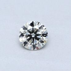 Pierre actuelle: Taille ronde, 0,30carats