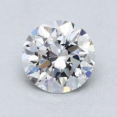1.00 Carat 圆形 Diamond 非常好 E VVS2