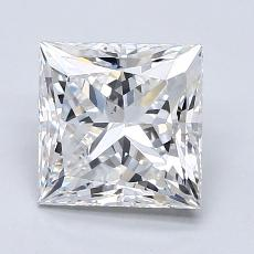 2,16-Carat Princess Diamond Very Good F VS2