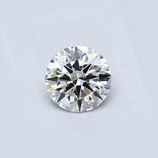 0,30-Carat Round Diamond Ideal F VVS1