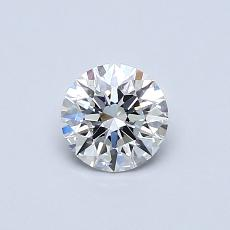 0.50-Carat Round Diamond Ideal F VS1