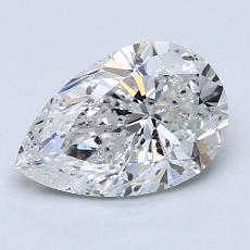 1.51-Carat Pear Diamond Very Good E SI2