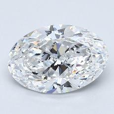 1.70 Carat 橢圓形 Diamond 非常好 D IF