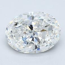1.50 Carat 椭圆形 Diamond 非常好 F VVS2