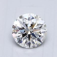 0,76 Carat Rond Diamond Idéale D VVS2