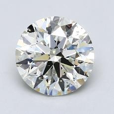 3.01-Carat Round Diamond Ideal J SI1