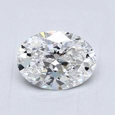 0,90-Carat Oval Diamond Very Good D VVS1
