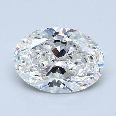 2.02-Carat Oval Diamond Very Good D VVS1