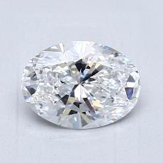 1.03 Carat 橢圓形 Diamond 非常好 D IF