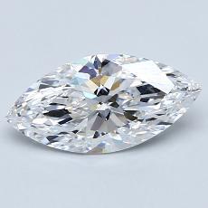 1.11-Carat Marquise Diamond Very Good D IF