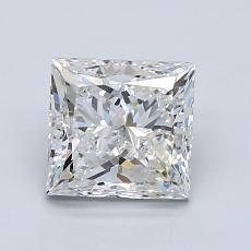 1.51 Carat 公主方形 Diamond 非常好 G SI2