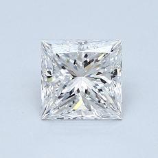 0,88 Carat Princesse Diamond Très bonne E VS1