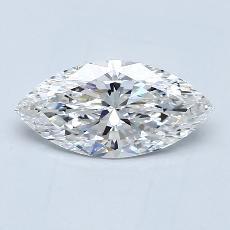 推薦鑽石 #2: 0.91 克拉欖尖形切割