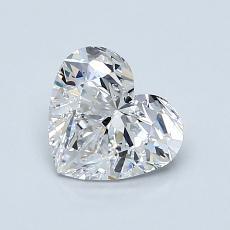Piedra recomendada 2: Forma de corazón de 1.01 quilates