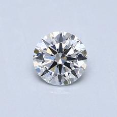0.40 Carat 圆形 Diamond 理想 E VS2