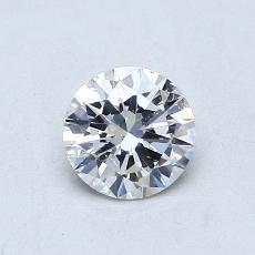 推荐宝石 2:0.57 克拉圆形切割