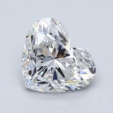 Piedra recomendada 4: Forma de corazón de 1.50 quilates