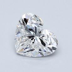 Piedra actual: Forma de corazón de 1.01 quilates
