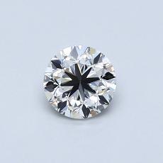 推荐宝石 1:0.50 克拉圆形切割