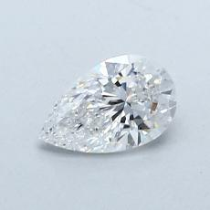 0.59-Carat Pear Diamond Very Good D VVS2