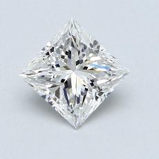 0,80-Carat Princess Diamond Very Good E VS1