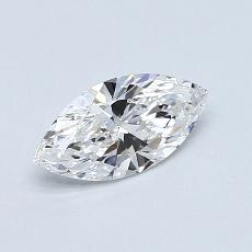 0.61-Carat Marquise Diamond Very Good D IF