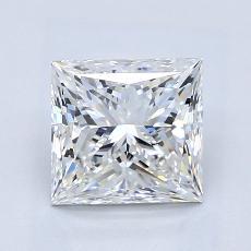 1,81-Carat Princess Diamond Very Good G VVS1