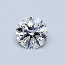 推荐宝石 4:0.58克拉圆形切割钻石