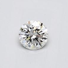 0,40-Carat Round Diamond Ideal J VVS1