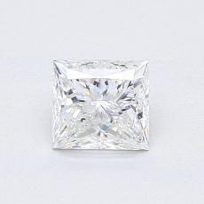 0.81 Carat 公主方形 Diamond 非常好 F VS2