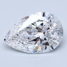 Recommended Stone #3: 2.28-Carat Pear Cut Diamond