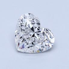 ターゲットの石:1.01カラットのハートカットダイヤモンド