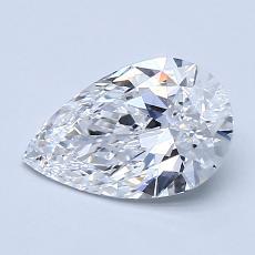 推荐宝石 4:1.07 克拉梨形切割钻石