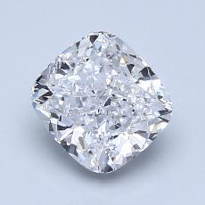 1.50-Carat Cushion Diamond Very Good D SI1
