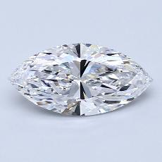 1.30-Carat Marquise Diamond Very Good D IF