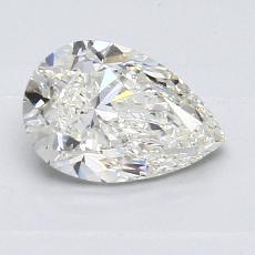 1.00-Carat Pear Diamond Good H VVS2