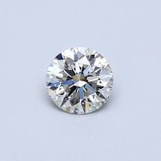 0.33-Carat Round Diamond Ideal I VS1