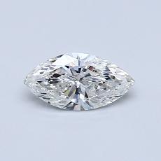 Pierre recommandée n°4: Diamant taille princesse 0,40 carat
